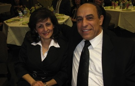 Pastor Hanna (right), of the Arabic Church, with his wife Tahany.