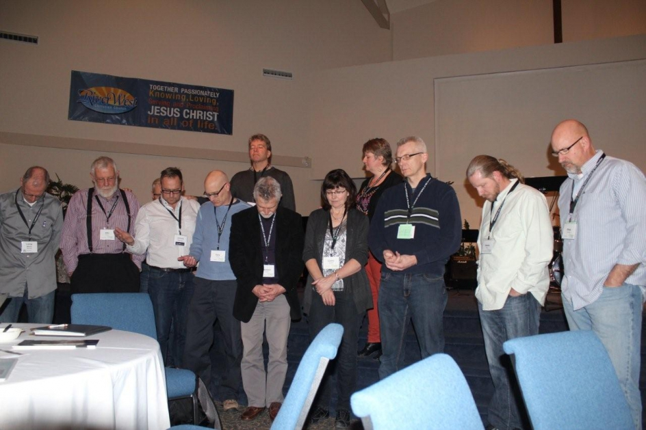ABMB team members were prayed for at the convention which took place March 21–22, 2014 in Edmonton. Photo by Gladys Terichow